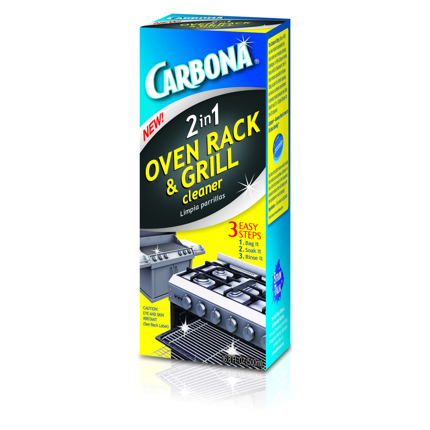 Carbona No Scent 2-in-1 Oven Rack and Grill Cleaner 16 8 oz  Liquid