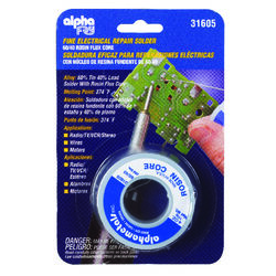 Alpha Fry  4 oz. Rosin Core Solder Wire  0.03 in. Dia. Tin/Lead  60/40  1 pc.