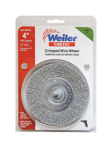 Weiler  Vortec  4 in. Fine  Crimped  Wire Wheel  4500 rpm 1 pc.