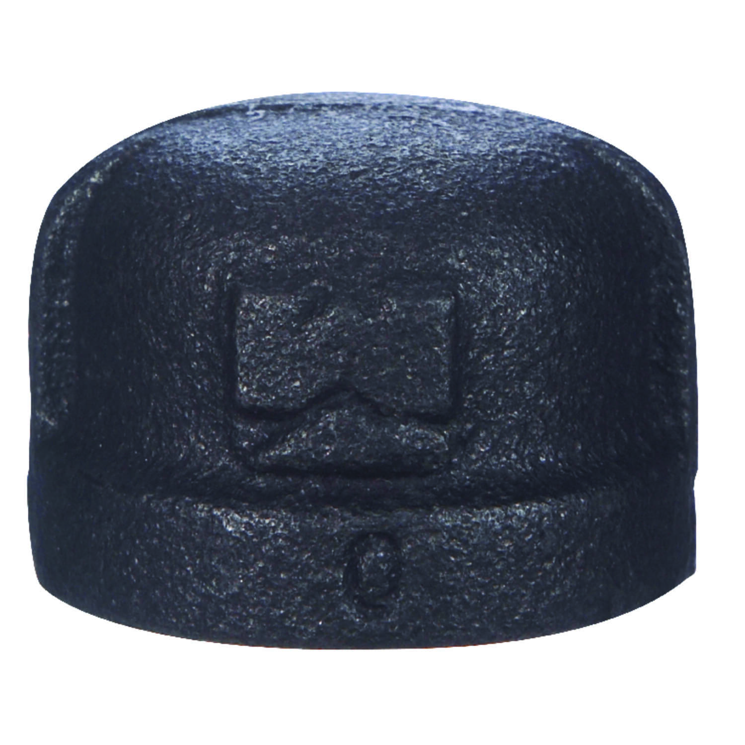 B & K  1-1/4 in. FPT   Black  Malleable Iron  Cap