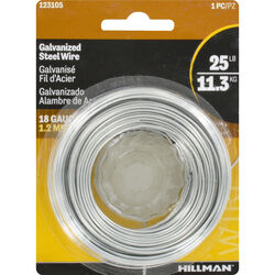 Hillman 110 ft. L Galvanized Steel 18 Ga. Wire