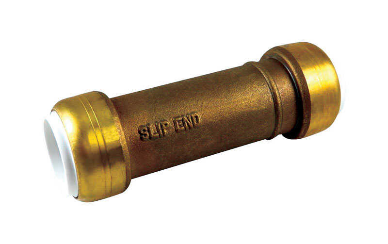SharkBite  3/4 in. Dia. x 3/4 in. Dia. x 4.4 in. L IPS To IPS  Slip Repair Coupling  Brass