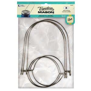 Loew Cornell  Transform Mason  Regular Mouth  Jar Wire Handle  3 pk