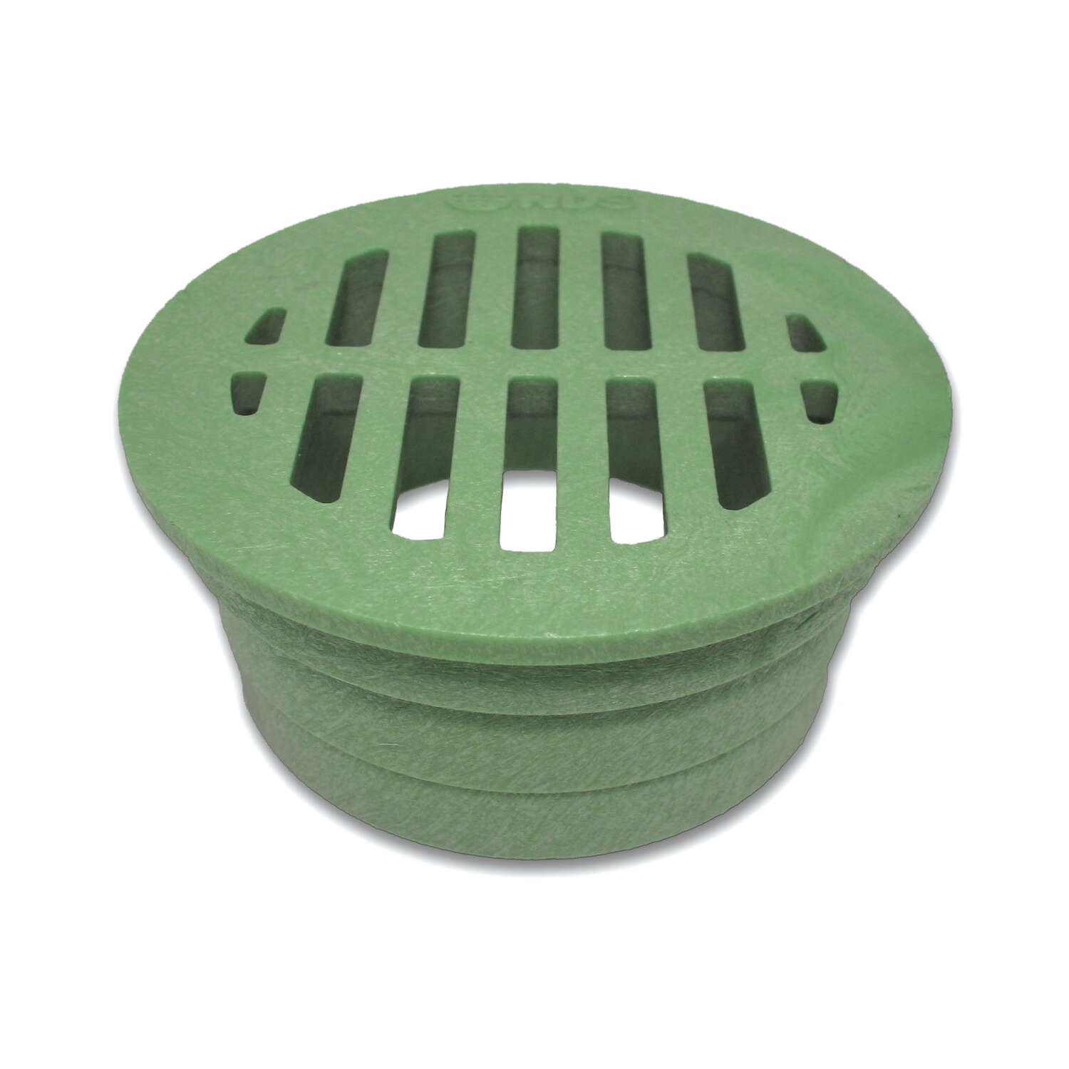 NDS  3 in. Green  Round  Polyolefin  Drain Grate