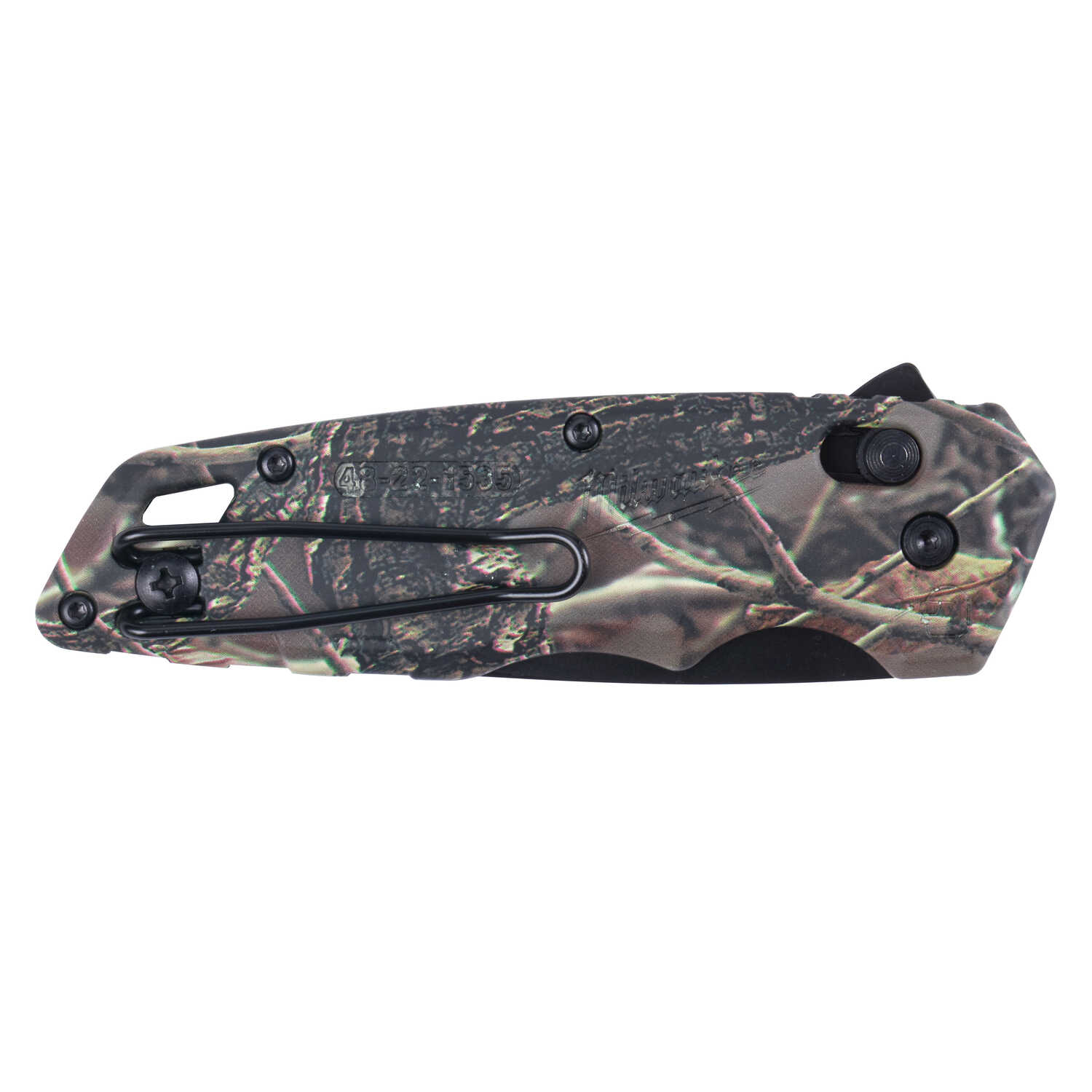 Milwaukee  Fastback  7-3/4 in. Flip  Spring Assisted Pocket Knife  Camouflage  1 pk