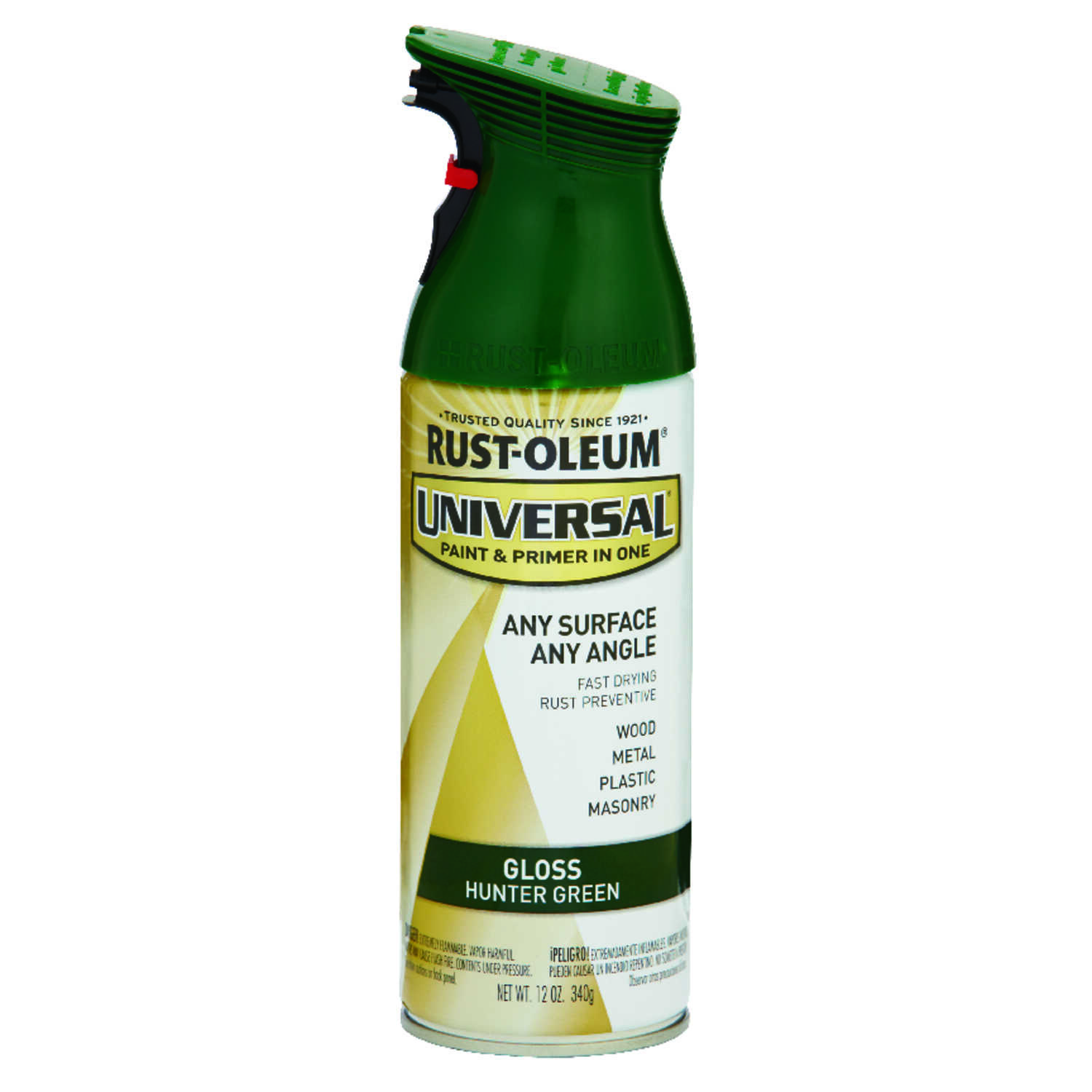 Rust-Oleum  Universal Paint & Primer in One  Gloss  Hunter Green  Spray Paint  12 oz.