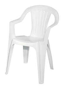 Adams  White  Polypropylene  Chair  Stackable