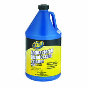 Zep  Lemon Scent Cleaner and Disinfectant  128 oz. Liquid