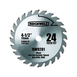 Rockwell  4-1/2  Versacut  Tungsten Carbide  3/8  24 teeth Circular Saw Blade