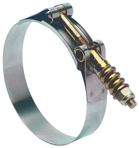Ideal  Tridon  3-1/16 in. 3-3/8 in. SAE 306  Hose Clamp  Stainless Steel Band  T-Bolt