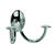 Spectrum 3.75 in. L Silver Steel Small Stratford Double Hook 1 pk