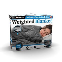 Bell + Howell Gray Couch/Twin Weighted Blanket 1 pk