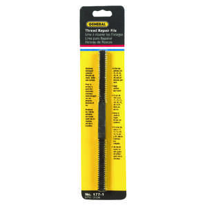General Tools  8-1/2 in. L High Carbon Steel  File  Assorted