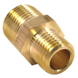 Forney  Brass  Hose Reducer  3/8 in. Male  NPT  1/4 in. Male  NPT  1 pc.
