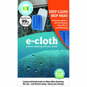 E-Cloth  Damp  5.25 in. W x 18 in. L Mop Refill  Polyester Blend  1 pk