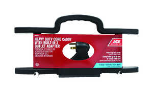 Ace Cord Wrap Heavy Duty 14/3 50 ft. Plastic  3 Conductor Black UL