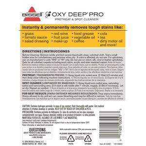 Bissell  Oxy Deep Pro  No Scent Stain Remover  22 ounce  Liquid