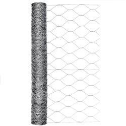 Garden Craft  24 in. H x 50 ft. L 20 Ga. Silver  Poultry Netting