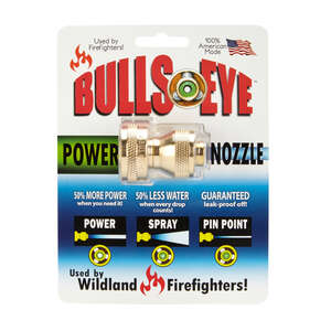 Bullseye Power Nozzle  Power Nozzle  4 pattern Adjustable High Pressure  Brass  Hose Nozzle
