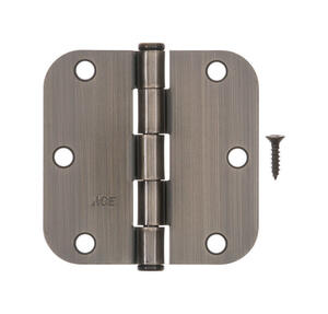 Ace  3-1/2 in. L Antique Brass  Residential Door Hinge  1 pk