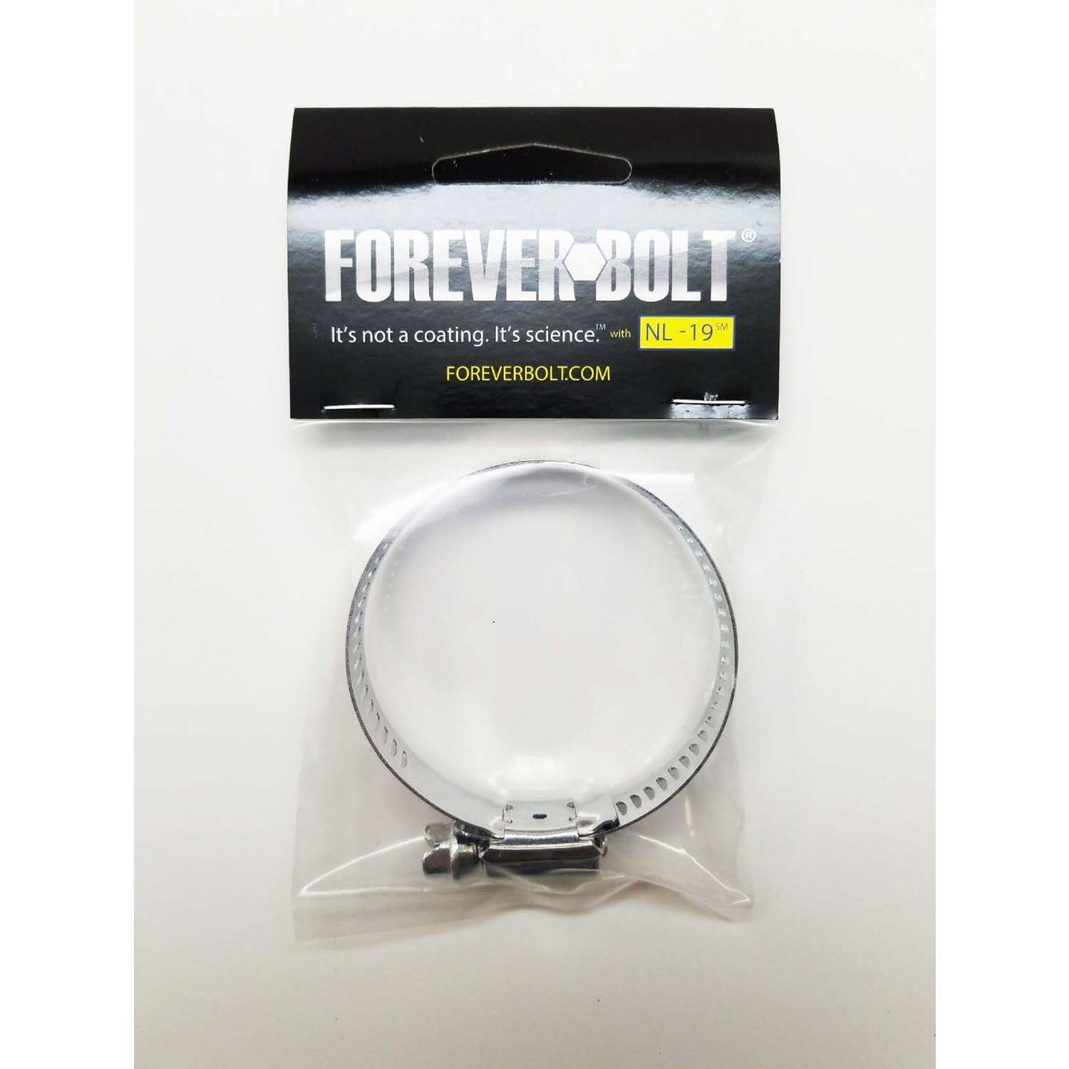 FOREVERBOLT  1-5/16 in. to 2-1/4 in. SAE 32  Silver  Hose Clamp  Stainless Steel  Band