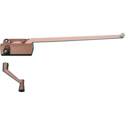 Prime-Line  Bronze  Steel  Right  Single-Arm Casement  Window Operator  For Truth