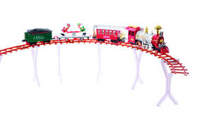 Decoris  Home for the Holidays  Red/Green  1 pk LED Christmas Train Set  Aluminum