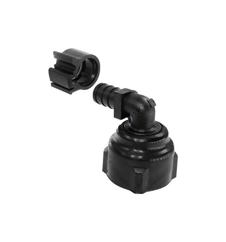 Flair-It  PEXLock  1/2 in. FPT   x 3/4 in. Dia. FPT  Swivel Elbow with Clamp