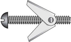 Hillman  1/8 in. Dia. x 4 in. L Truss  Steel  Toggle Bolt  50 pk