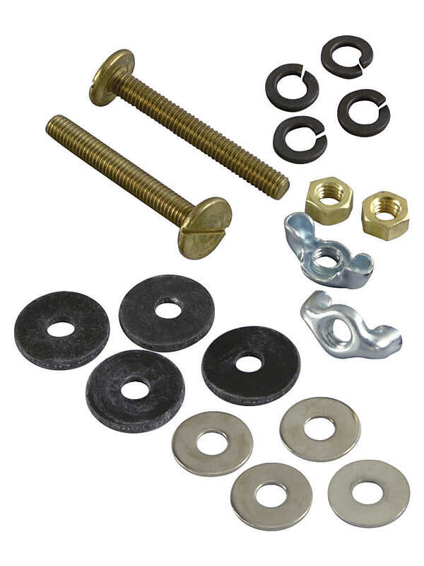 Danco  Toilet Tank Bolt Set  5/16 in. H x 2-1/4 in. L Brass