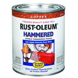 Rust-Oleum  Stops Rust  Hammered  Copper  Protective Enamel  Indoor and Outdoor  455 g/L 1 qt.