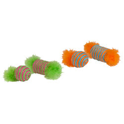 Kylies Brights  Assorted  Raffia Spool and Ball with Feather  Raffia  Cat Toy  Large  1