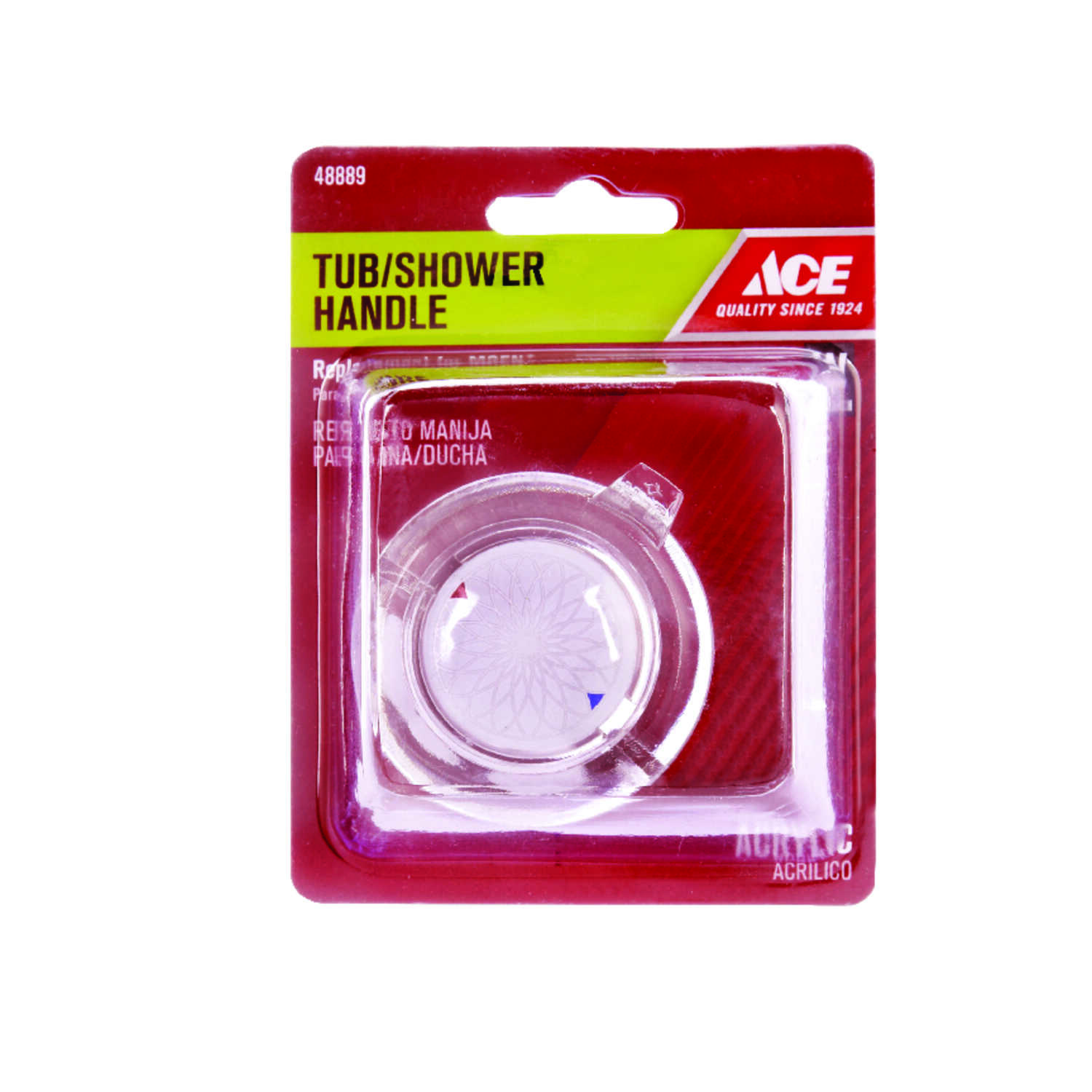 Ace  Knob  Acrylic  Clear  Single  Tub and Shower Handle