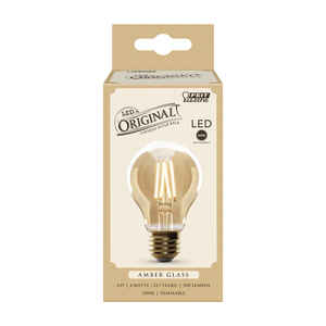 FEIT Electric  A19  E26 (Medium)  LED Bulb  Amber Soft White  60 Watt Equivalence 1 pk