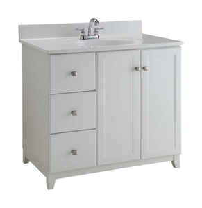 Design House  Single  Semi-Gloss  Vanity Cabinet  33 in. H x 36 in. W x 21 in. D