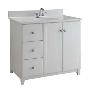 Design House Single Semi Gloss Vanity Cabinet 33 In H X 36