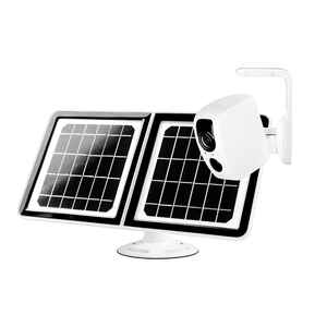 Tend Secure  Lynx Solar  Solar Powered  Outdoor  White  Security Camera