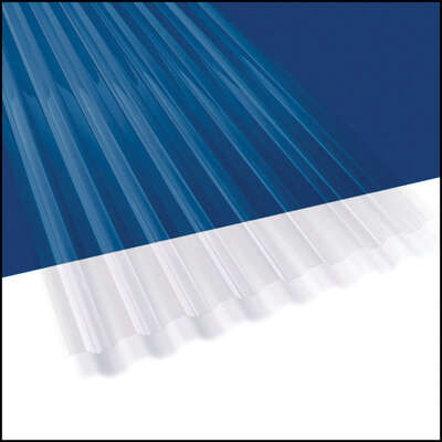Suntuf 26 In W X 144 In L Polycarbonate Roofing Panel Clear Ace Hardware