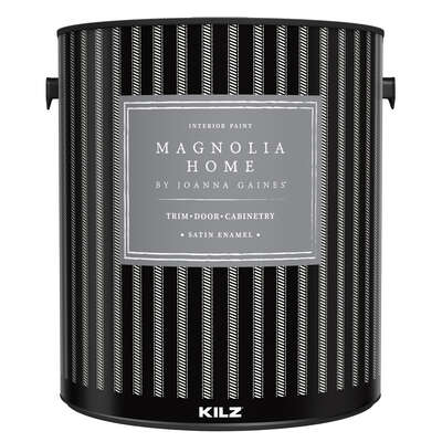 Magnolia Home by Joanna Gaines  Kilz  Satin Enamel  Base 3  Cabinet and Trim Paint  Interior  1 gal.