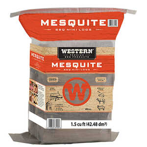 Western Premium BBQ Products  Mesquite  Mini Logs  1.5 cu. ft.