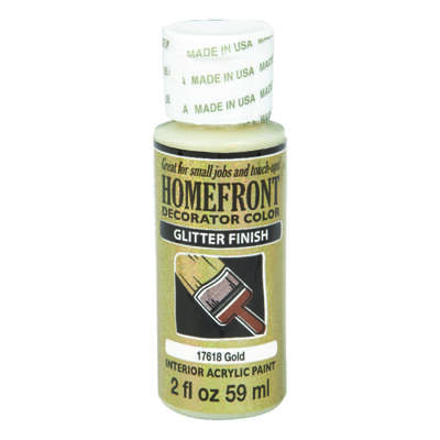 Homefront  Glitter  Gold  Hobby Paint  2 oz.