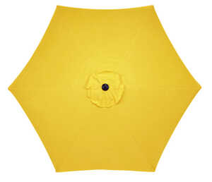 Living Accents  MARKET  9 ft. Tiltable Yellow  Patio Umbrella