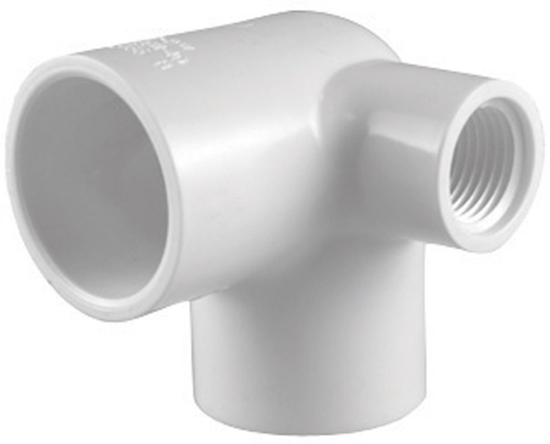 Charlotte Pipe  Schedule 40  3/4 in. Slip   x 3/4 in. Dia. Slip  PVC  90 deg. Side Outlet Elbow