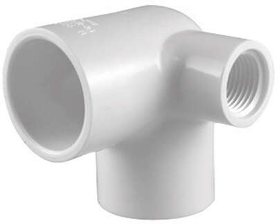 Charlotte Pipe  Schedule 40  3/4 in. Slip   x 3/4 in. Dia. Slip  PVC  Side Outlet Elbow