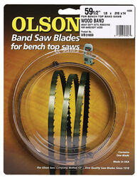 Olson 59.5 in. L x 0.13 in. W x 0.02 in. thick Carbon Steel Band Saw Blade 14 TPI Hook teeth 1 p