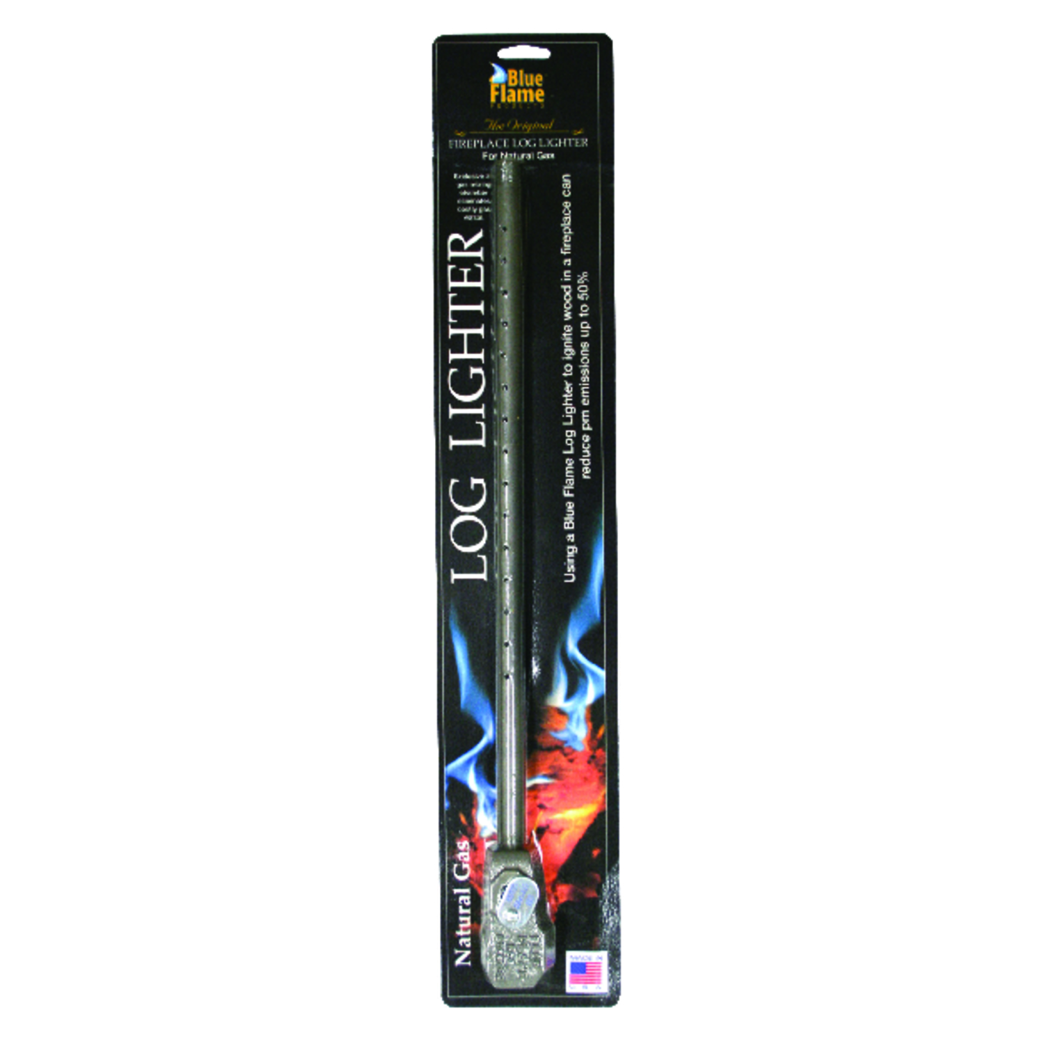 Blue Flame  0.5 in. Black  Log Lighter  Steel  1 pc. 6 in. L Strike Anywhere