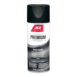 Ace Premium Satin Black Enamel Spray Paint 12 oz.