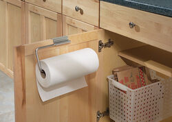 InterDesign  Stainless Steel  Door Mount  Paper Towel Holder  5.3 in. H x 1.8 in. W x 11.8 in. L