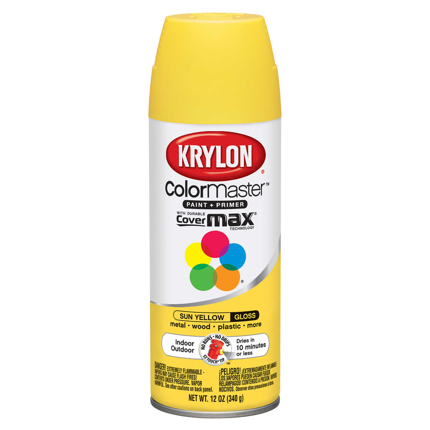 Krylon  ColorMaster  Gloss  Sun Yellow  Spray Paint  12 oz.