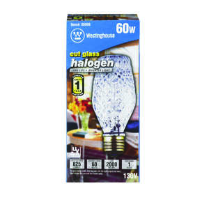 Westinghouse  43 watts SL19  Halogen Bulb  750 lumens White  1 pk Decorative